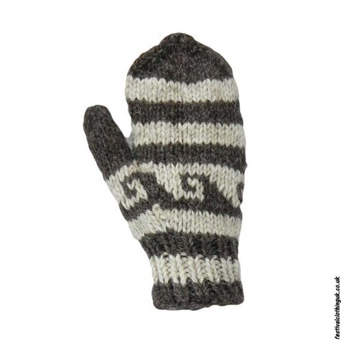 Multicoloured-Fleece-Lined-Mitten-Wool-Gloves