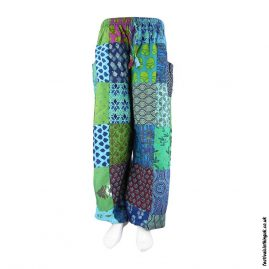 Turquoise-Patchwork-Harem-Festival-Pants