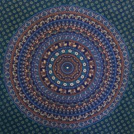 Blue Elephant Mandala Festival Throw