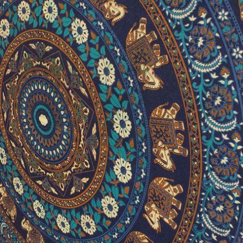 Blue-Elephant-Mandala-Festival-Throw-Close-up-2