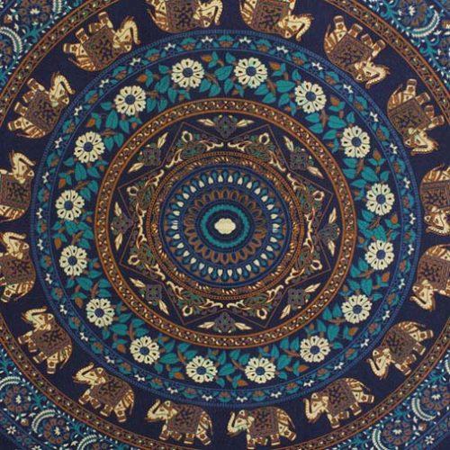 Blue-Elephant-Mandala-Festival-Throw-Close-up