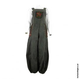 Festival-Dungarees-with-Flower-Design-Charcoal