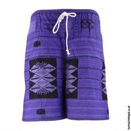 Long-Purple-Cotton-Festival-Shorts