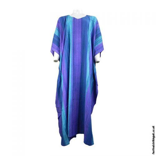 Long-Rayon-Kaftan-Dress-Multicoloured-Stripe