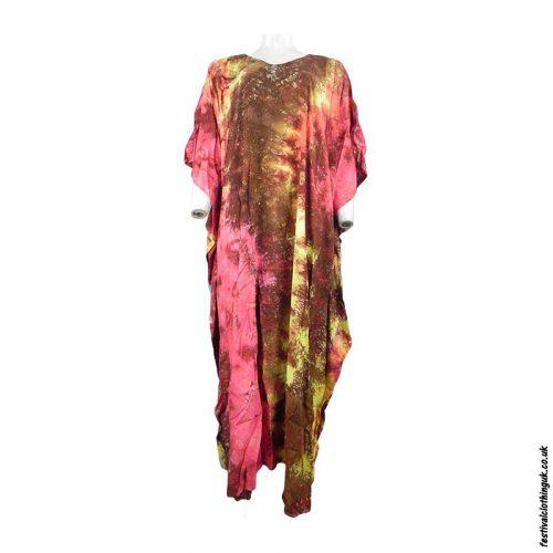 Long-Rayon-Kaftan-Dress-Multicoloured-Tie-Dye