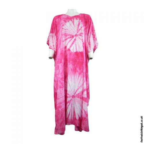 Long-Rayon-Kaftan-Dress-Pink-Tie-Dye