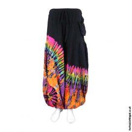 Multcoloured-Tie-Dye-Baggy-Cotton-Festival-Trousers