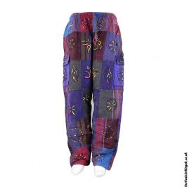 Patchwork Thick Cotton Festival Trousers