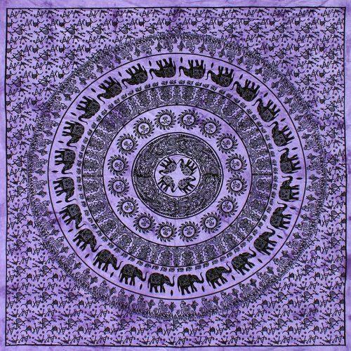 Purple-Mandala-Elephant-festival-Throw