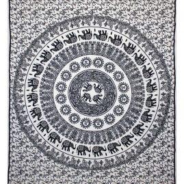 White-Mandala-Elephant-Festival-Throw