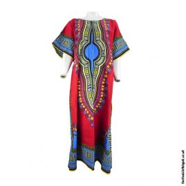 long-cotton-festival-kaftan-dress-unisex-red