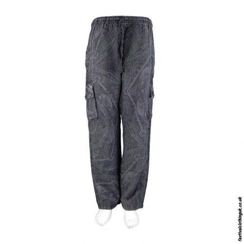 Charcoal-Funky-Patterned-Cotton-Festival-Trousers