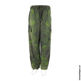 Green-Funky-Patterned-Cotton-Festival-Trousers