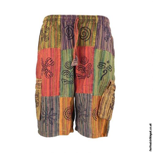 Multicoloured-Cotton-Patchwork-Festival-ShortsMulticoloured-Cotton-Patchwork-Festival-Shorts