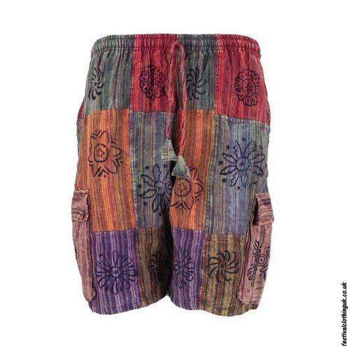 Multicoloured-Cotton-Patchwork-Festival-Shorts