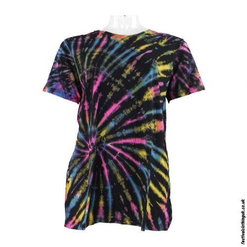 Tie-Dye-Short-Sleeve-Festival-T-Shirt-Multicoloured