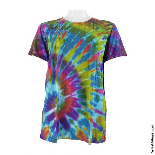 Tie-Dye-Short-Sleeve-Festival-T-Shirt-Multicoloured