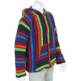 Zip Up Rainbow Mexican Hoodie