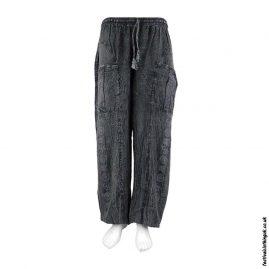 Lightweight-Black-Cotton-Om-Harem-Pants