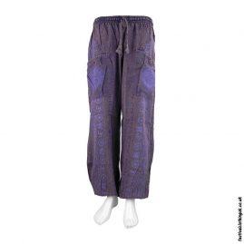 Lightweight-Purple-Cotton-Om-Harem-Pants