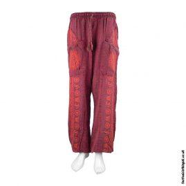 Lightweight-Red-Cotton-Om-Harem-Pants