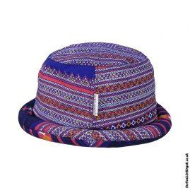 Blue-Multicoloured-Rimmed-Festival-Hat