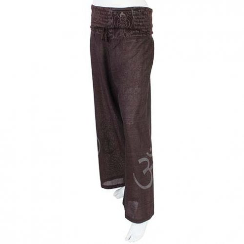 Brown Om Cropped Trousers