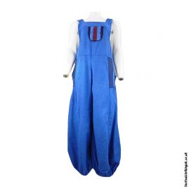 Festival-Dungarees-with-Embroidery-Design-Turquoise