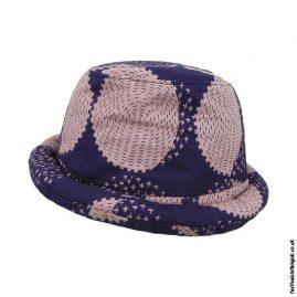 Indigo Dyed Rimmed Festival Hat