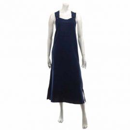 Long Cotton Dungaree Dress