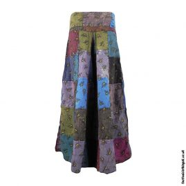 Patchwork-Flared-Bee-Trousers