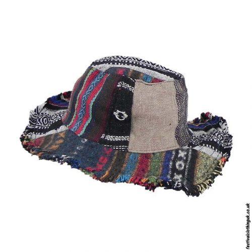 Patchwork Hemp & Cotton Sun Hat