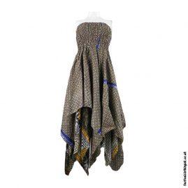 Patterned-Pixie-Hem-Recycled-Sari-Dress