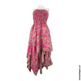 Pink-Pixie-Hem-Recycled-Sari-Dress