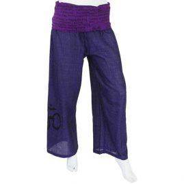 Purple Om Cropped Trousers