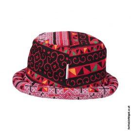 Red-Multicoloured-Rimmed-Festival-Hat