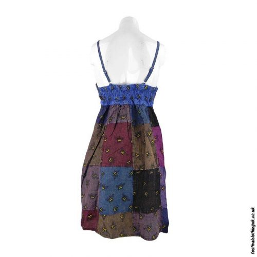 Strappy-Patchwork-Festival-Bee-Dress-Back