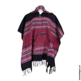 Festival-Hooded-Poncho-Black