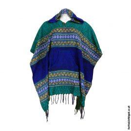 Festival-Hooded-Poncho-Green