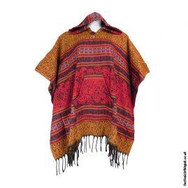 Festival-Hooded-Poncho-Orange