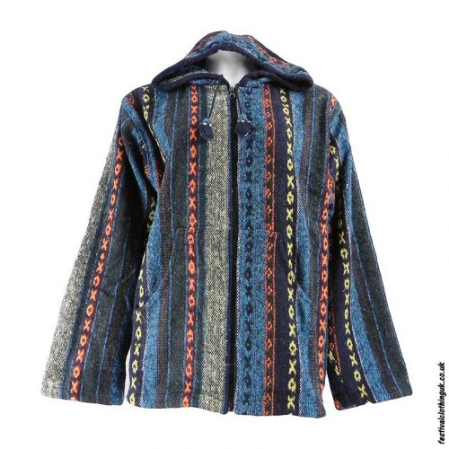 Pixie-Hooded-Thick-Weave-Festival-Jacket-Multicoloured