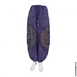 Purple-Gheri-Patch-Cotton-Festival-Harem-Pants